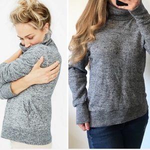 J. CREW Heathered Gray Cozy Warm Pullover Sweater
